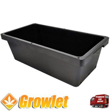 Deposito rectangular para agua de riego de 90 litros