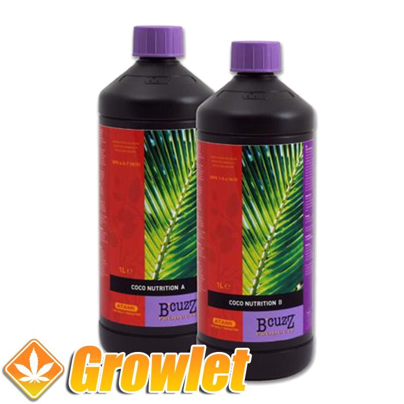 B'cuzz Coco Nutrition A+B de Atami: Abono de crecimiento y floración