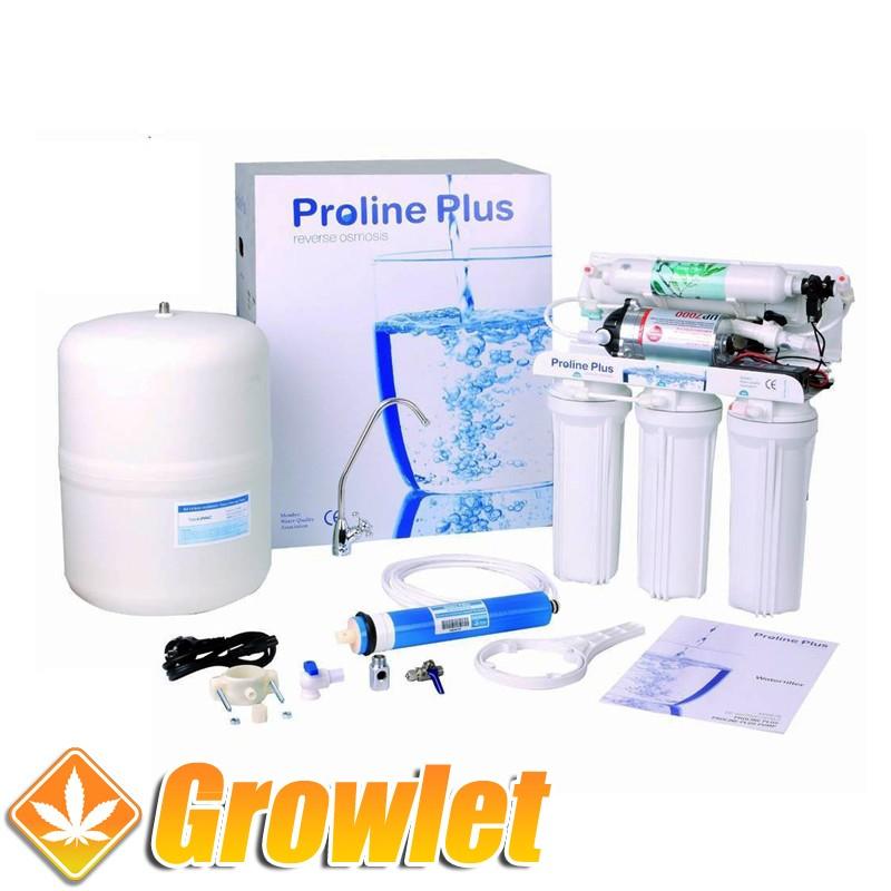 Filtro de osmosis inversa con bomba Proline (300 litros/día)