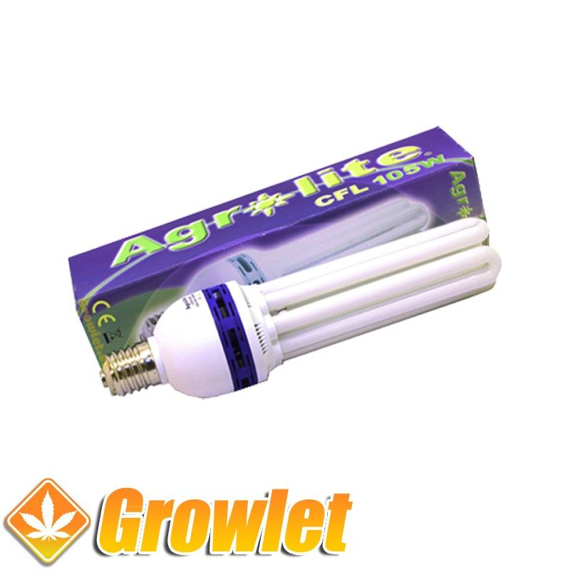 Vista frontal del CFL Agrolite 105 W