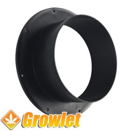 plastico negro redondo para conectar tubos de extracción