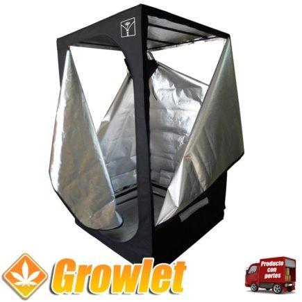 armario de tela para cultivar plantas en casa