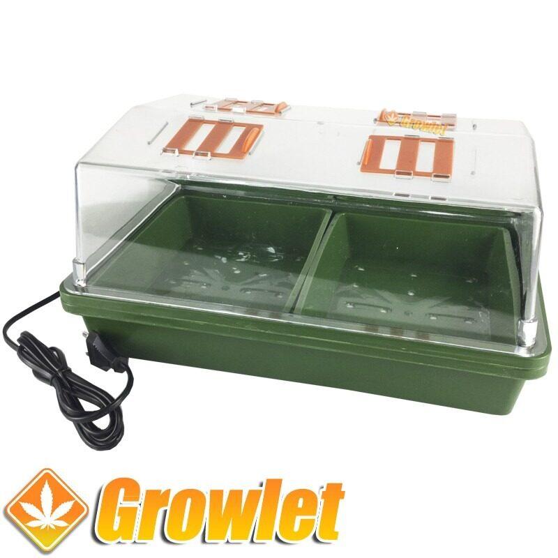 invernadero eléctrico para germinar semillas o hacer esquejes