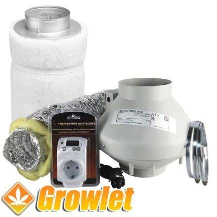 conjunto de filtro de carbon y extractor rvk