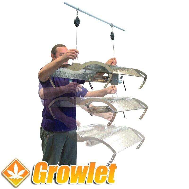 Las poleas Easy Roller son un sistema para ajustar la altura de los reflectores de iluminación