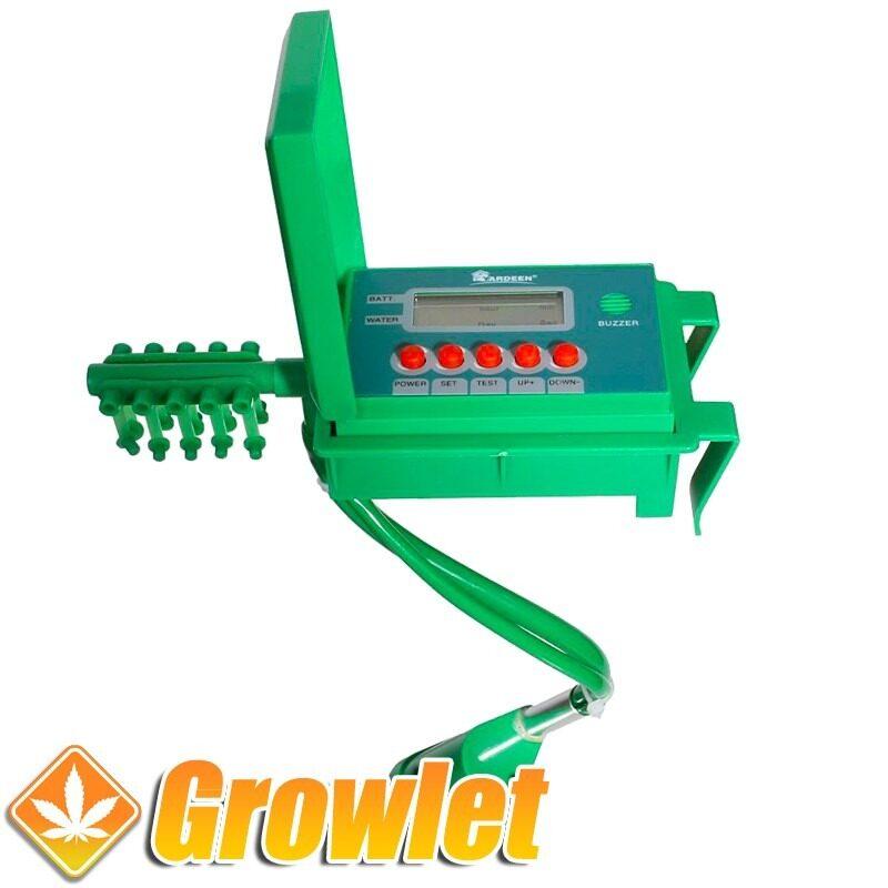 programador de riego con bomba integrada para 10 plantas