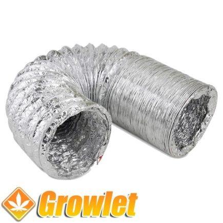 trozo de tubo flexible de aluminio