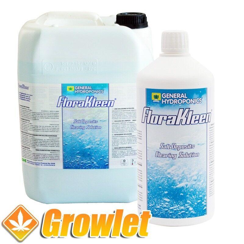 envase de limpiador de sales para sistemas hidroponicos