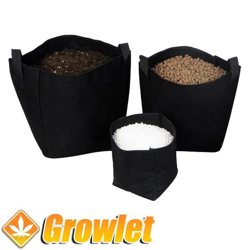 Maceta de cultivo Texpot con arlita, perlita y tierra