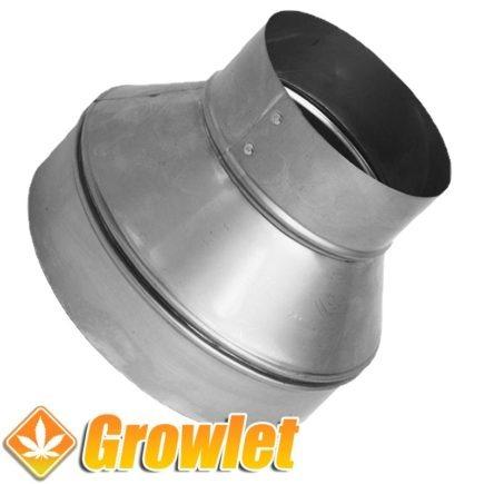 pieza de metal para reducir tubos de extracción