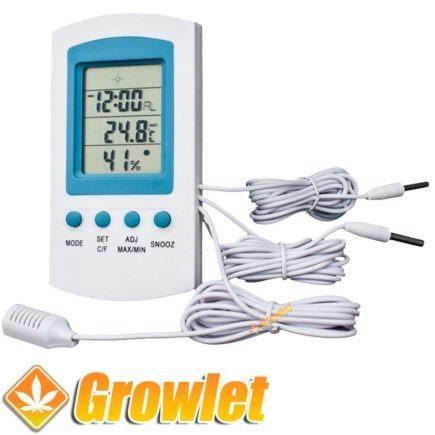 medidor digital de temperatura y humedad