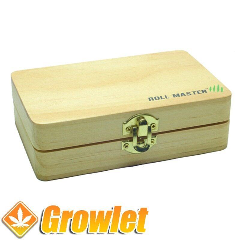 Caja de madera Roll Master cerrada