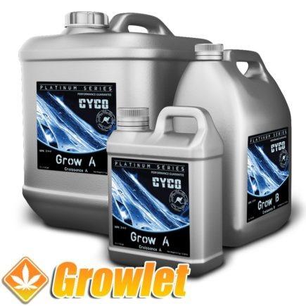 botella de fertilizante de crecimiento