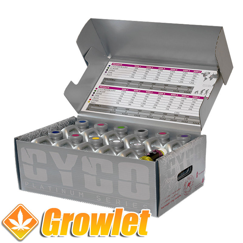 pack de fertilizantes en una caja