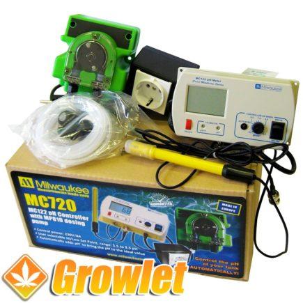 Controlador automático de pH Milwaukee para el agua de riego