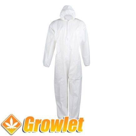 traje blanco desechable