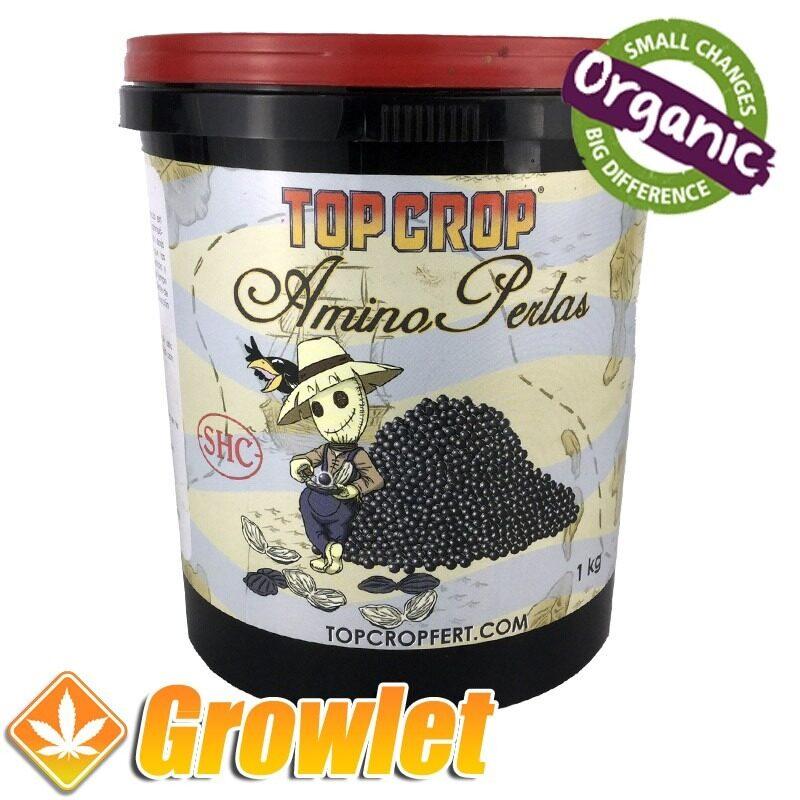 bote de amino perlas de top crop