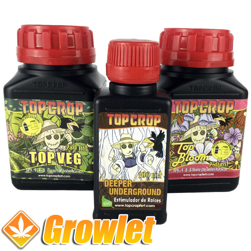 botellas de fertilizante top crop