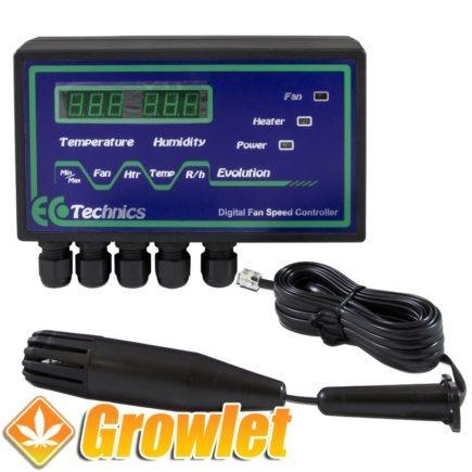 vista general del controlador ecotechnics de temperatura y humedad