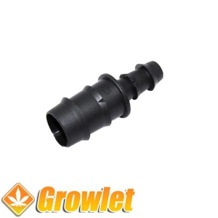 Conexión reductora de 25 a 16 mm. para tuberías de riego