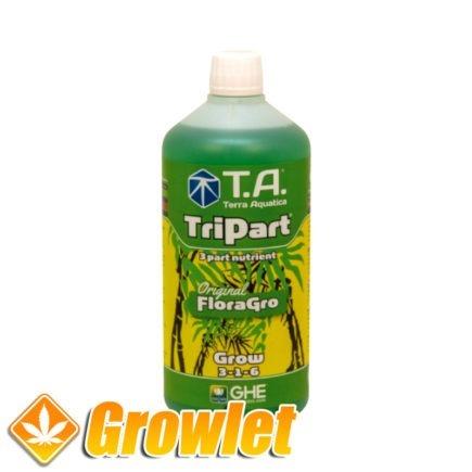 TriPart Grow de GHE Abono de crecimiento Hidroponico