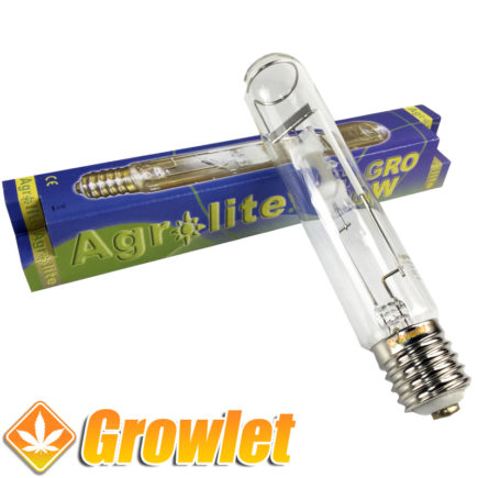 Vista frontal de la bombilla Agrolite HM