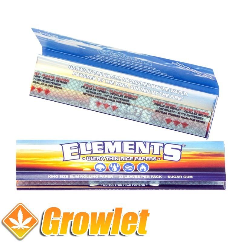 Elements KS Slim: Papel de fumar