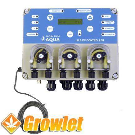 Controlador automático del pH y la Ec del agua Prosystemaqua