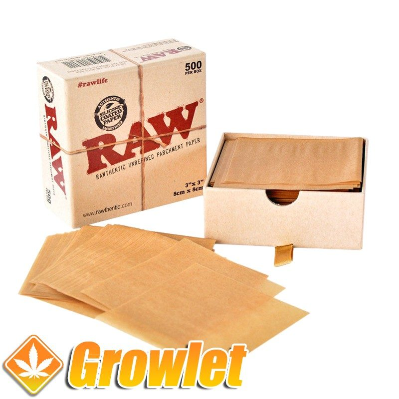 RAW Parchment paper 500: Papel antiadherente para BHO o Rosin
