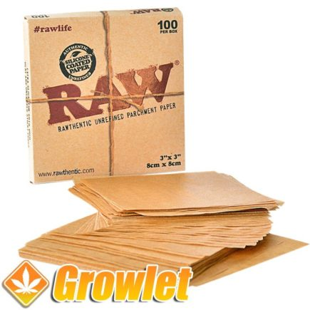 RAW Parchment paper 100: Papel antiadherente para BHO o Rosin