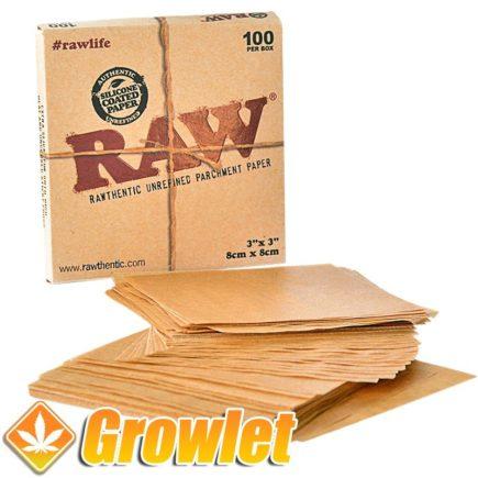 RAW Parchment paper 100: Papel antiadherente para BHO o Rosin