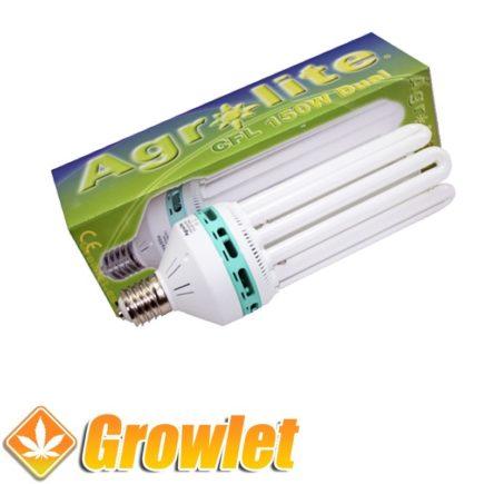 CFL Agrolite 150 W mixto visto desde el frontal