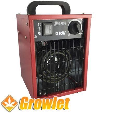 calefacción de aire caliente para cultivo