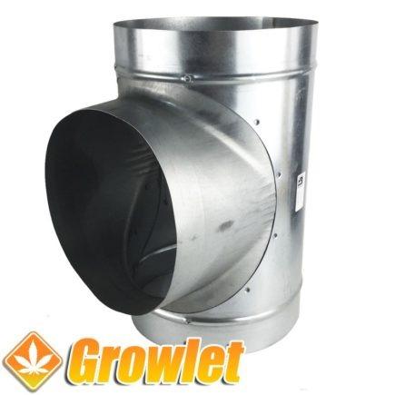 derivación t de extracción en chapa galvanizada
