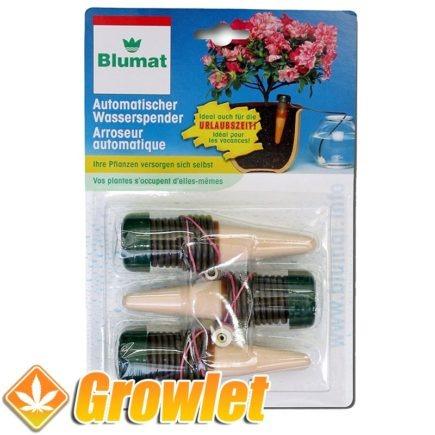 paquete de 3 conos cerámicos para regar plantas de la casa blumat