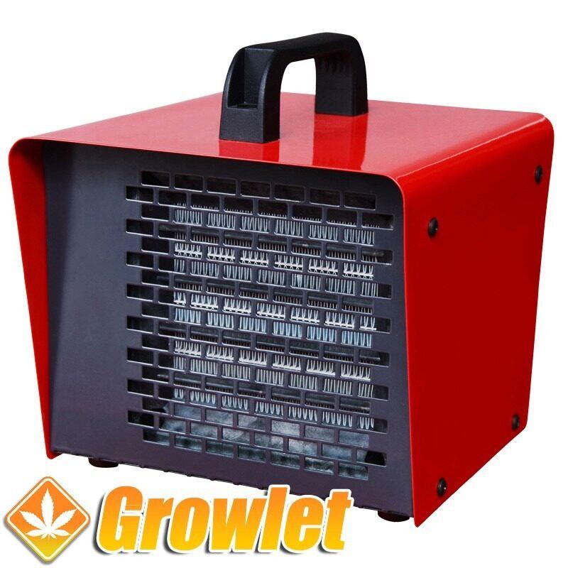 calefacción de aire caliente roja