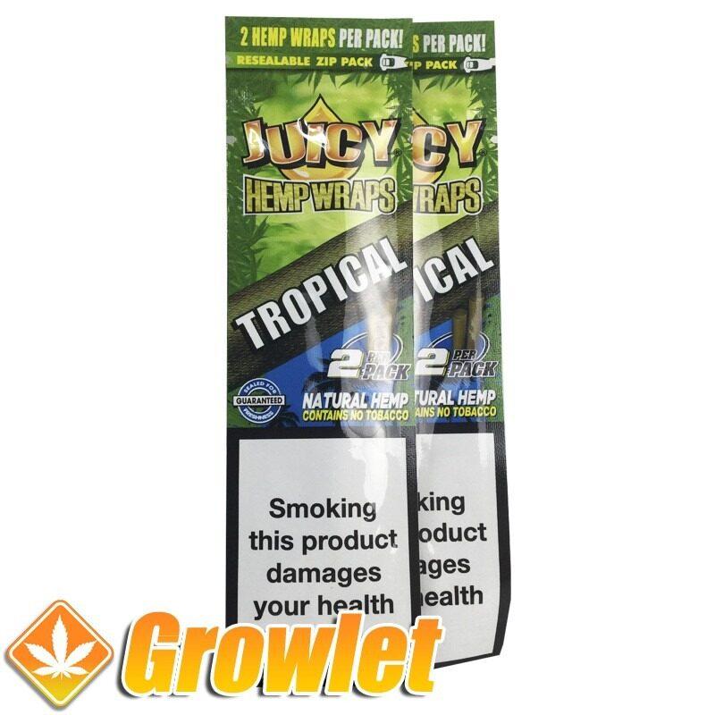 envase de Juicy hemp Tropical