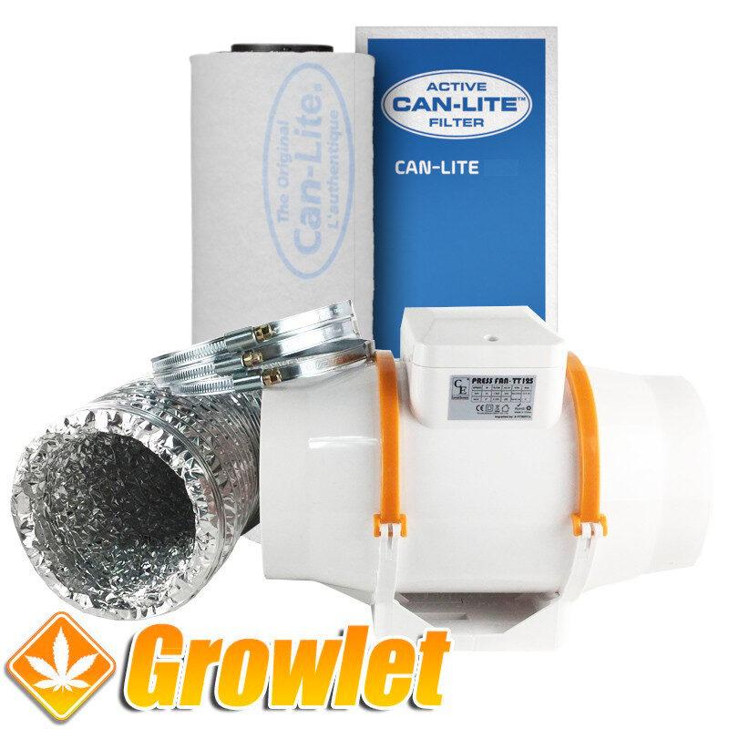 conjunto de extractor y filtro de carbon para cultivo de interior