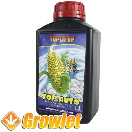 botella de fertilizante para plantas de cannabis autoflorecientes