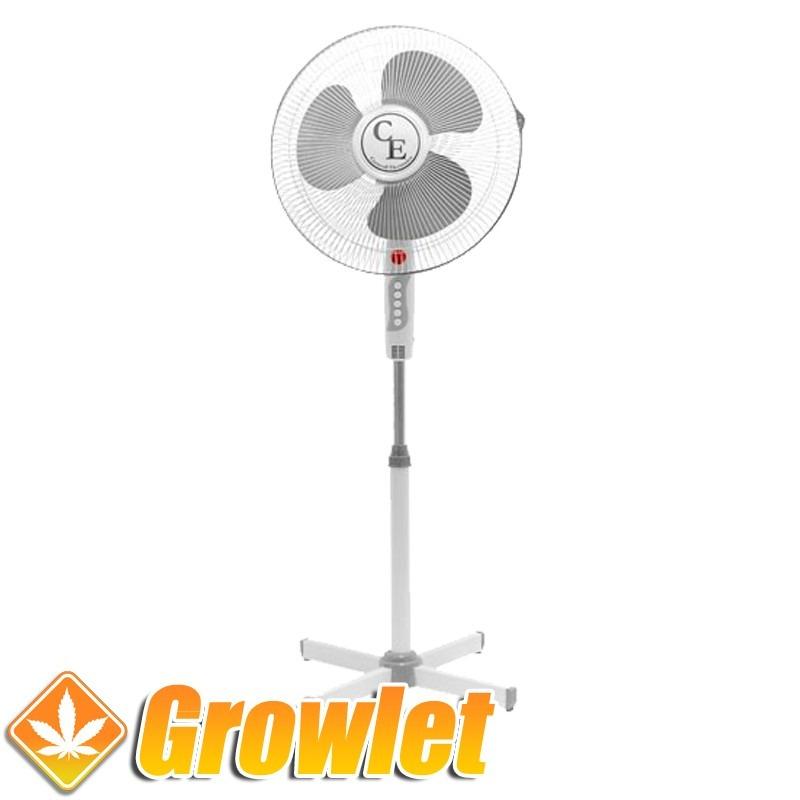 Ventilador con pinza y base Cyclone (20 cm.) Growlet