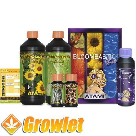 pack de fertilizantes con el potenciador de la floración Bloombastic para cultivo en tierra