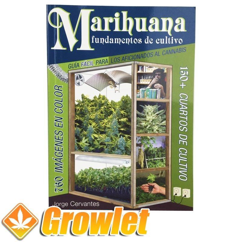 Vista frontal del libro Marihuana fundamentos de cultivo de Jorge Cervantes