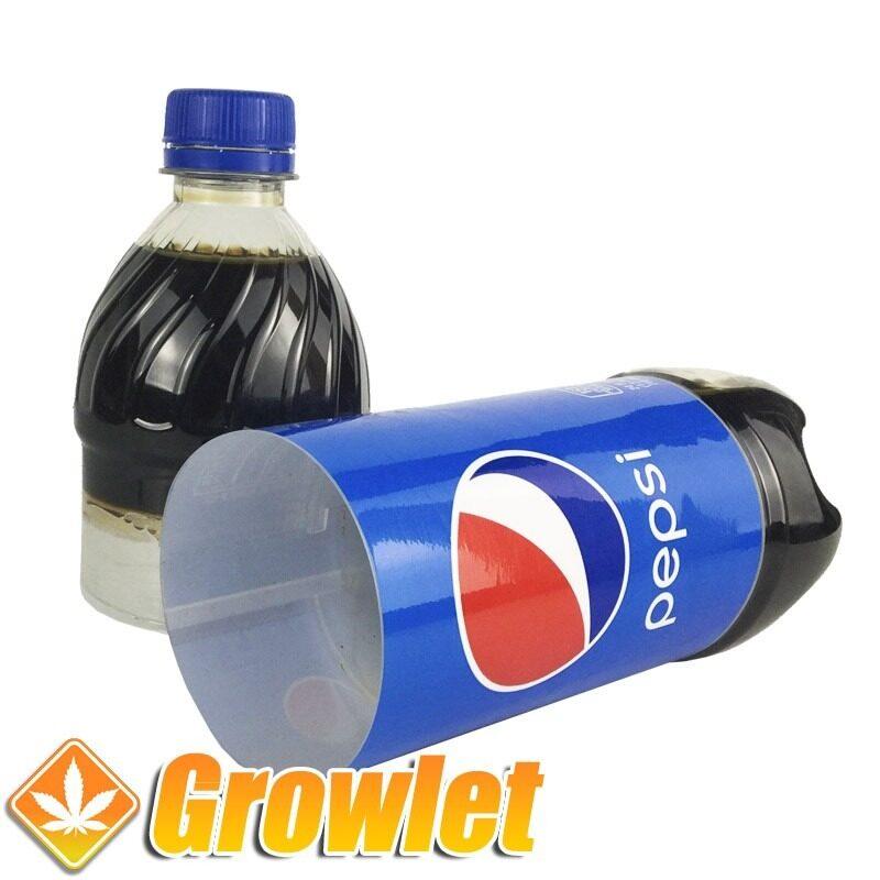 Botella de ocultación de Pepsi con escondite abierta
