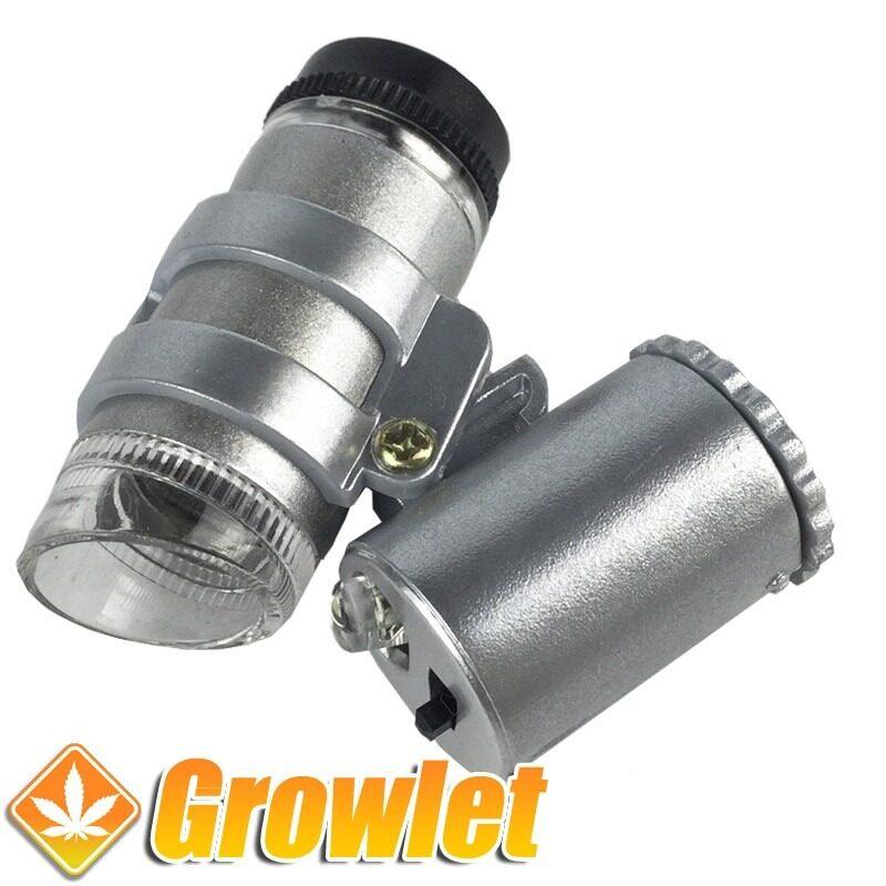 Microscopio de 45 aumentos y luz LED