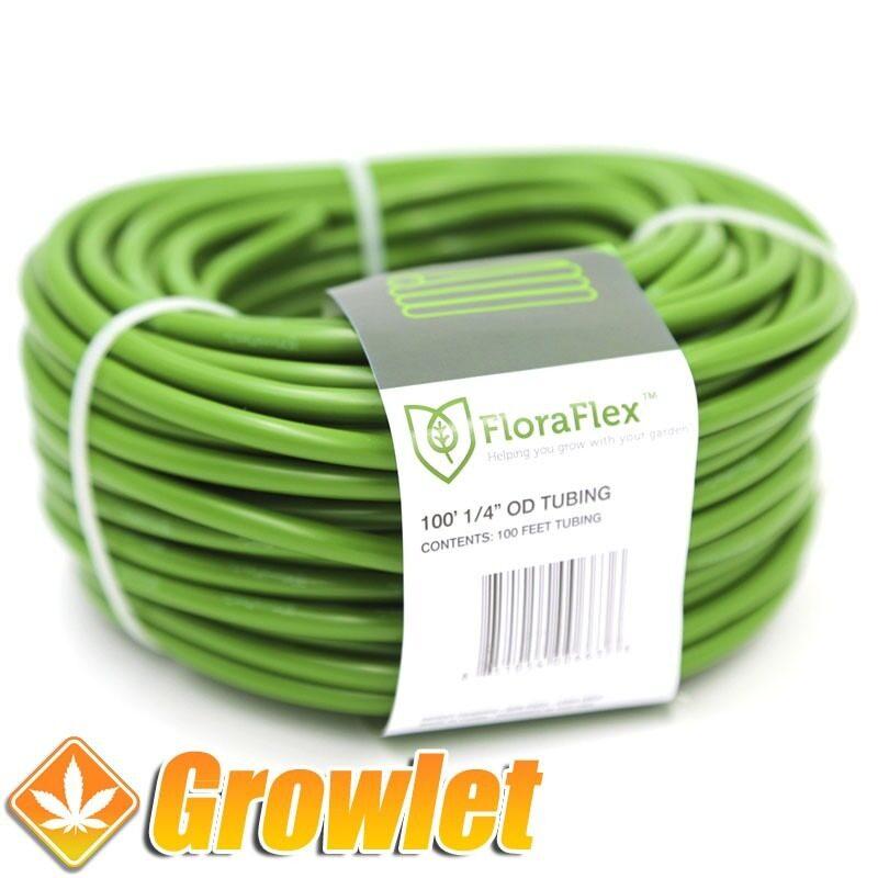 Tubería capilar de riego de color verde de FloraFlex