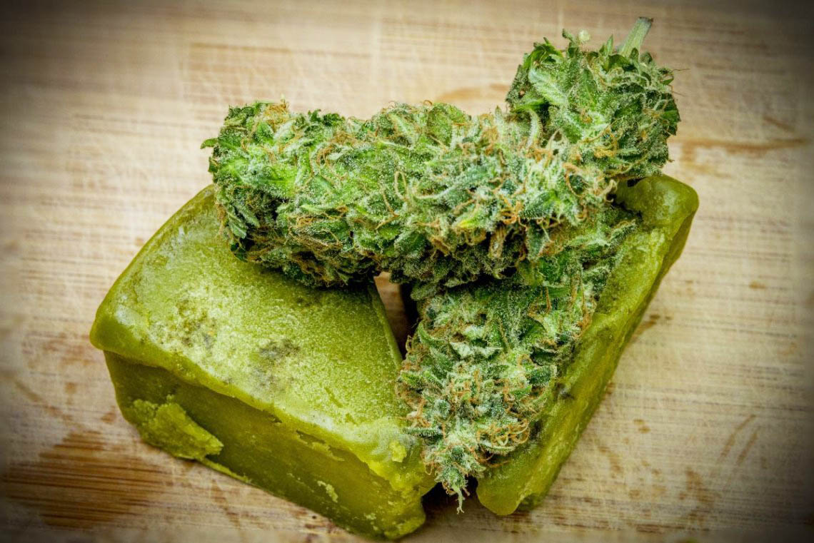 mantequilla de cannabis o marihuana