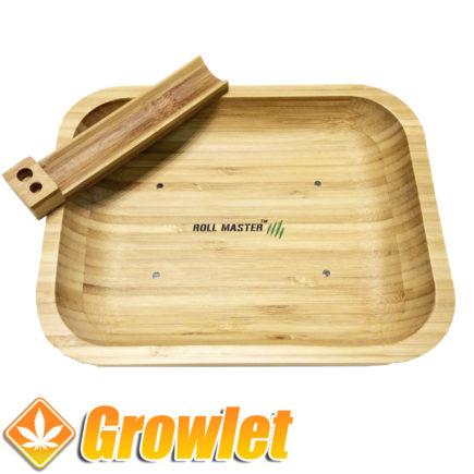 Bandeja de liar Roll Master fabricada en Bambú