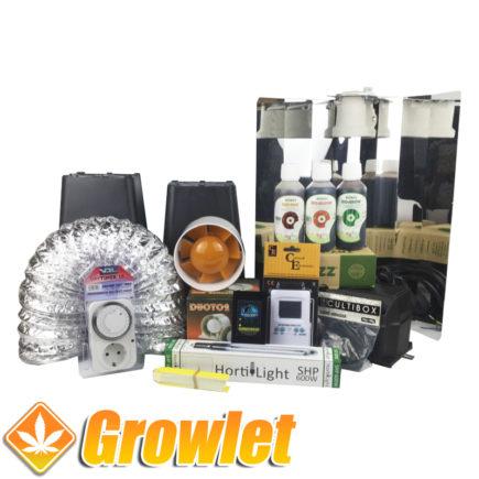 Kit de cultivo interior básico de cannabis