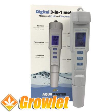 Medidor de pH y Ec Aquamaster para el agua de riego