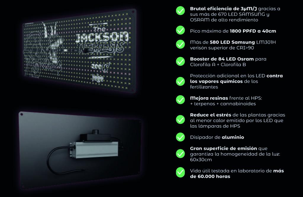 Especificaciones The Jackson Mantis
